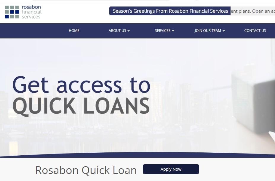 Rosabon Finance Quick Loan